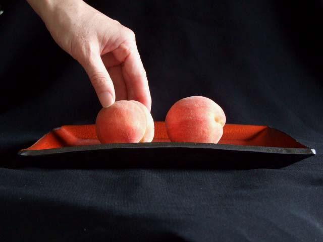 赤絵あけぼの角大皿