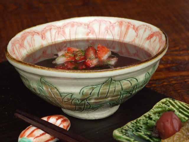 赤絵淡花飯碗(ご飯茶碗)