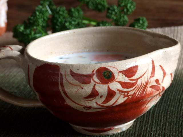 赤絵納豆鉢