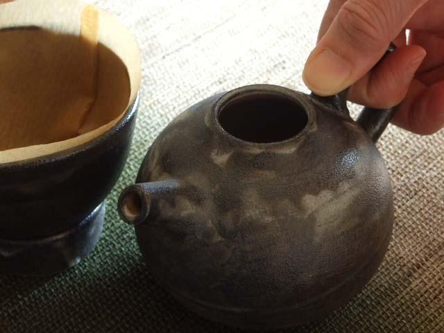 黒釉コーヒードリッパーセット 一人用