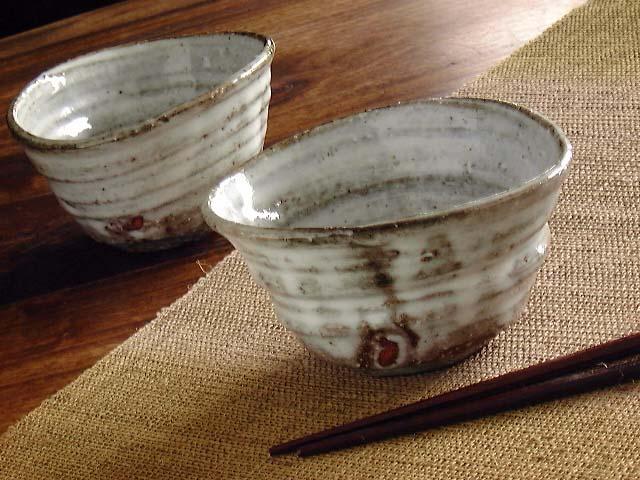 萩焼楕円小鉢