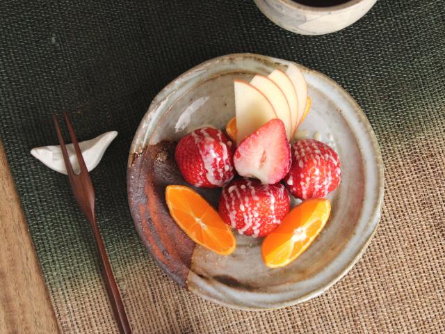 萩焼リム小皿