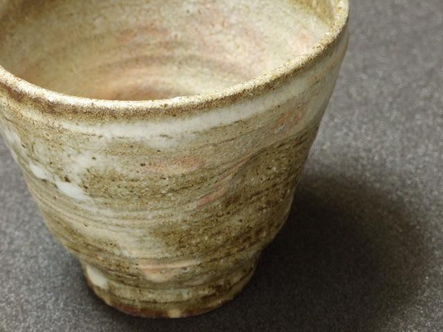 灰釉線引きフリーカップ