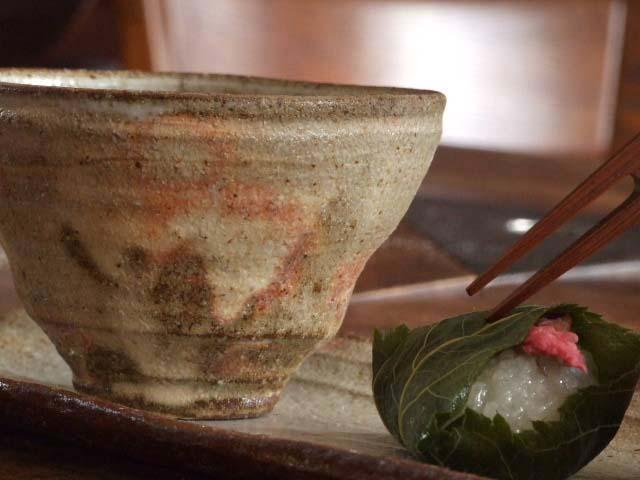 灰釉湯のみ茶碗