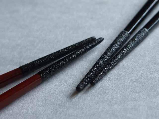 刷毛本漆塗り箸二種