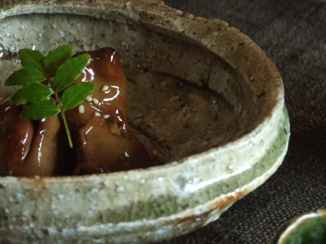 木灰釉あわび鉢