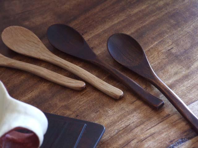 木のスプーン(木製ティースプーン2本セット)