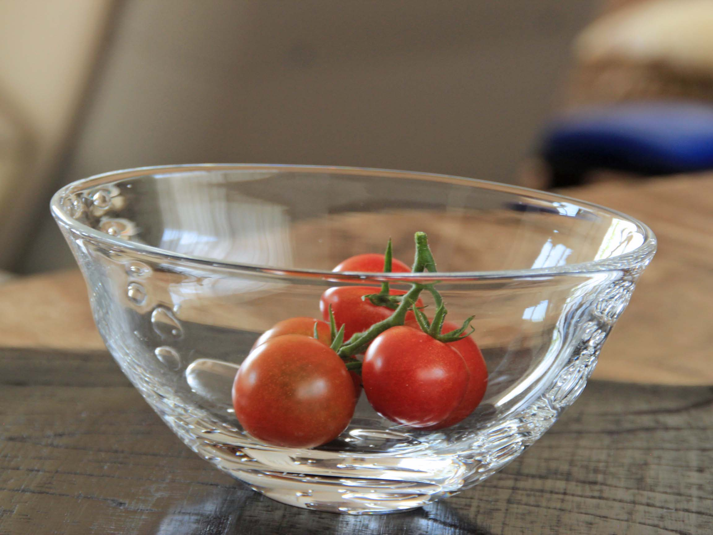 みずあわ楕円ガラス小鉢