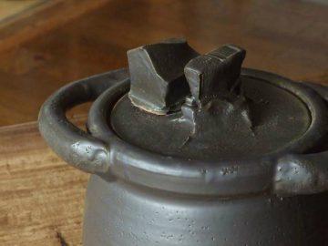 黒釉ご飯土鍋