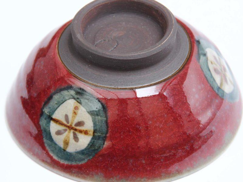 辰砂ご飯茶碗 裏からの写真です