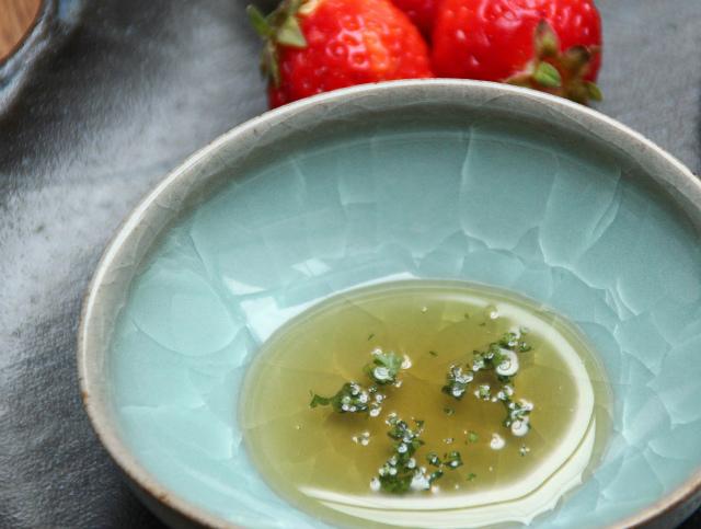 氷紋楕円豆鉢