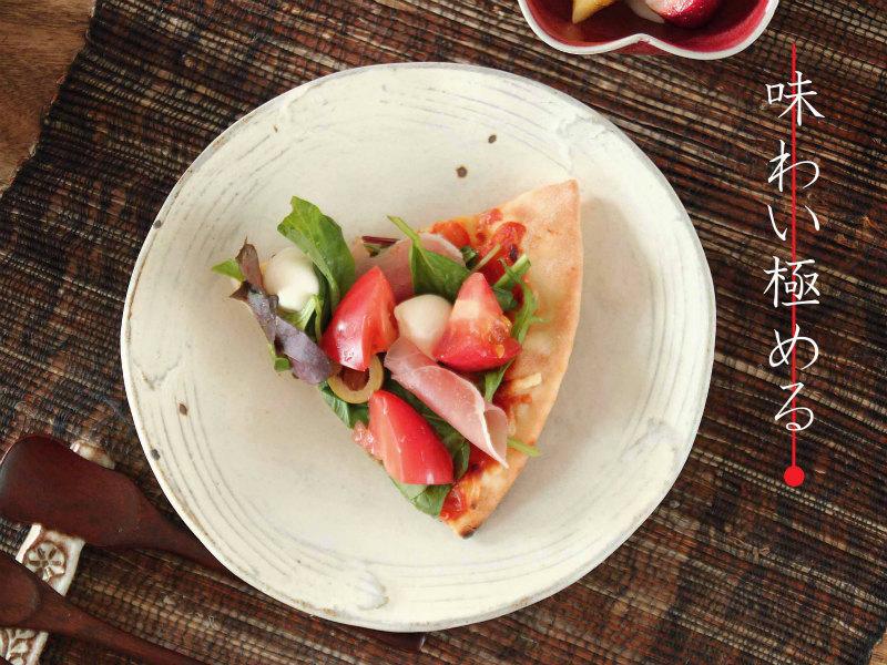 粉引き櫛目鉄紋小皿/和食器 白